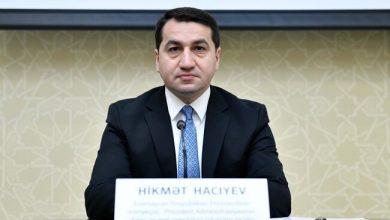 """Photo of Hikmət Hacıyev: """"5 bölgəyə 229 mərmi atılıb"""""""