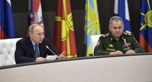 Sergey Şoyqu və prezident Putin